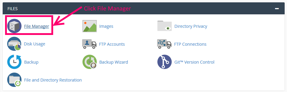 cPanel File Manager image