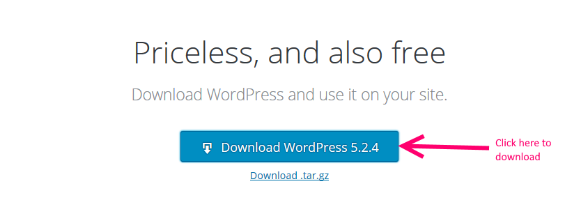 Image of WordPress.org download