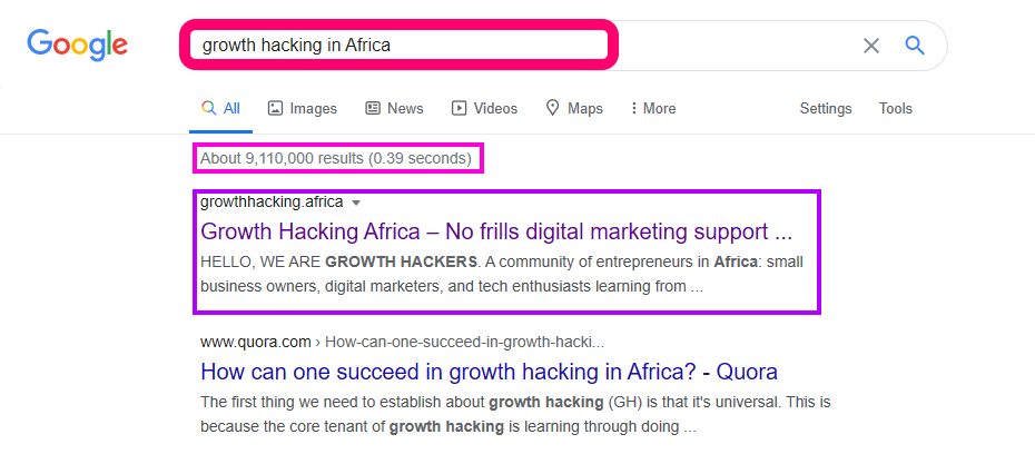 growth hacking africa story